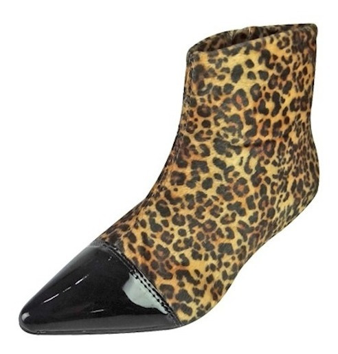 Ankle Boot Cap Toe Onça - Marrom