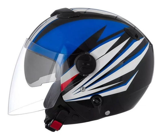 Capacete Pro Tork New Atomic Superbike Sb7 Preto/azul/branco