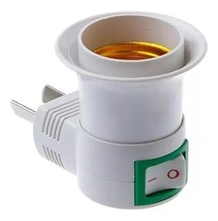 Porta Lampara Foco Con Interruptor - Enchufe Directo A 220v