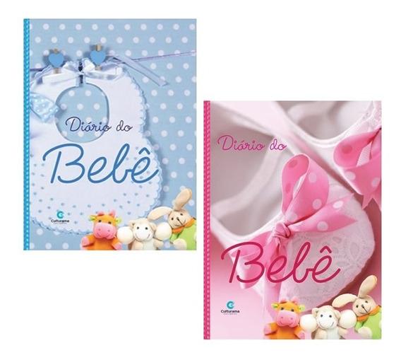 Diário Do Bebê Album Fotos Anotações Caderneta Rosa Ou Azul