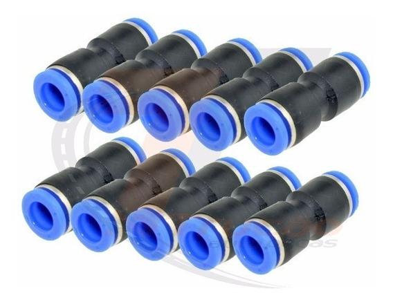 10 Conexão Engate Rápido 8mm Pneumatica