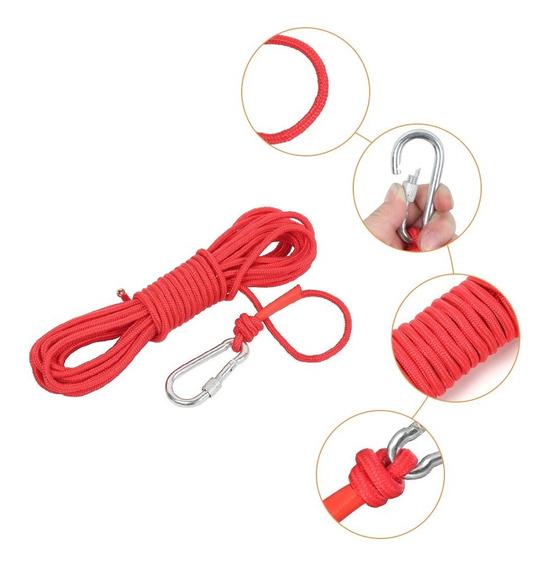 Cable Escalada Cuerda Seguridad Rescate Pesca Imán C/mosquet