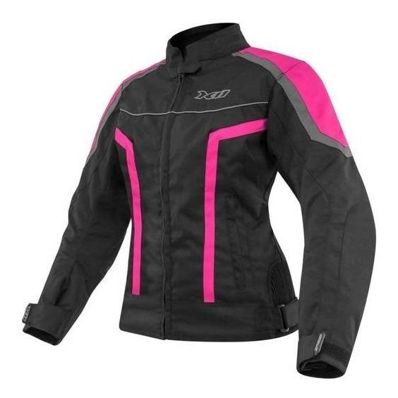 Jaqueta Feminina Moto X11 Guard Com Proteção Rosa Moto C Nf
