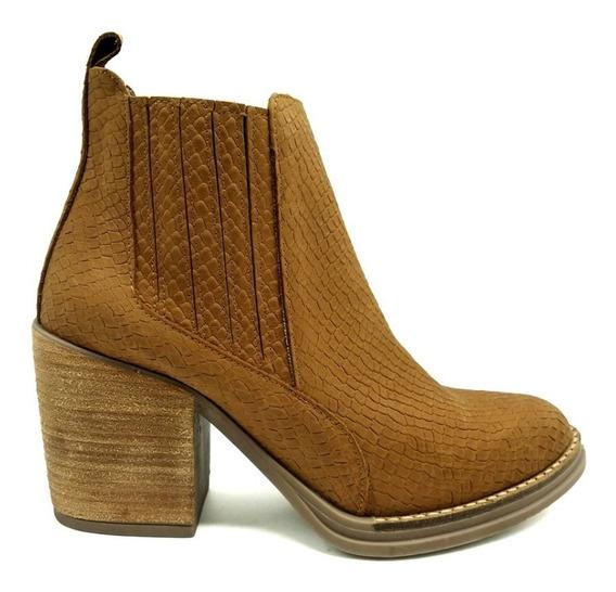 Botineta Texana Tachas Zapatos Botas Borcego Cuero 4402mk