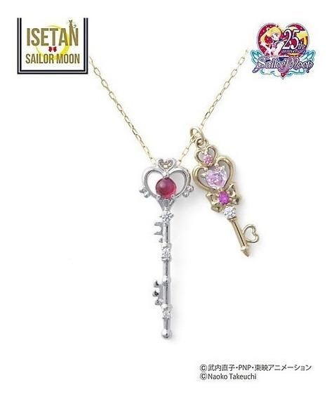 Collar Sailor Moon Llave Luna Pluto Rini Cute Kawaii Japon