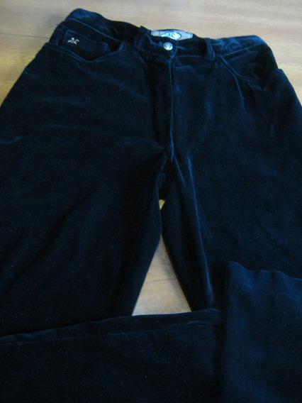 Pantalon Dama Negro Pana T 44