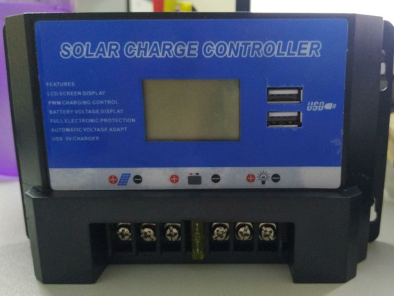 Controlador De Carga P/ Painel Solar 20a - 12w/24w - Tb-0830
