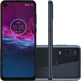 Motorola One Action 128gb Denim Câm Tripla C/ Nota Fiscal