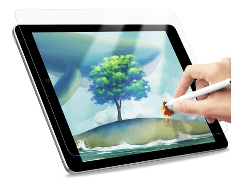 Imagen 1 de 7 de Apple iPad 10.2 2019 Lámina Pet Paperfeel Texture 0.15mm