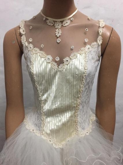 Vestido Princesa Blanco Largo De 15 Años, Muy Delicado