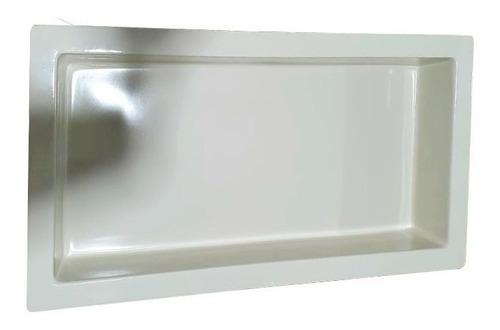 Nicho Para Banheiro Em Fibra Bege 60 Cm X 30 Cm