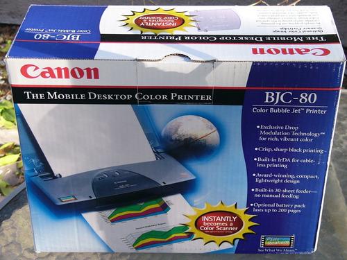 Nueva Impresora De Inyección De Tinta Canon Bjc 80 Color...