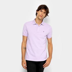 21176d208c1 Camisa Polo Tommy Hilfiger Básica Masculina - Cor Lilás