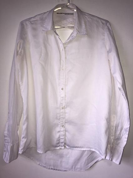 Camisa Blanca Espalda Abierta Marca Delaostia Talle 3 / 44