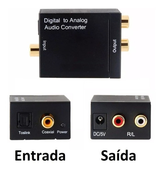 Conversor De Audio Digital Para Analogico P/ Digital