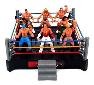 Mini Combate Wrestling Ring 8 Luchadores King Super Power