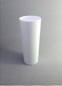 Copo Acrilico Long Drink Branco Leitoso Cx. 100 Copos