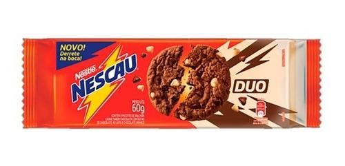 Biscoito Cookies Duo Nescau Nestlé 60 Grs