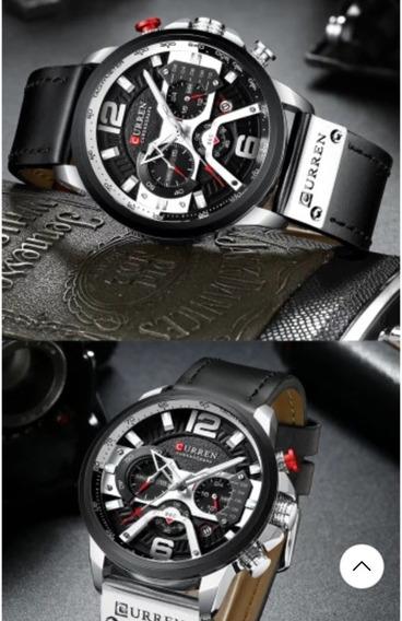 Curren Relógios Esportivos Casuais Para Homens Cronógrafo R