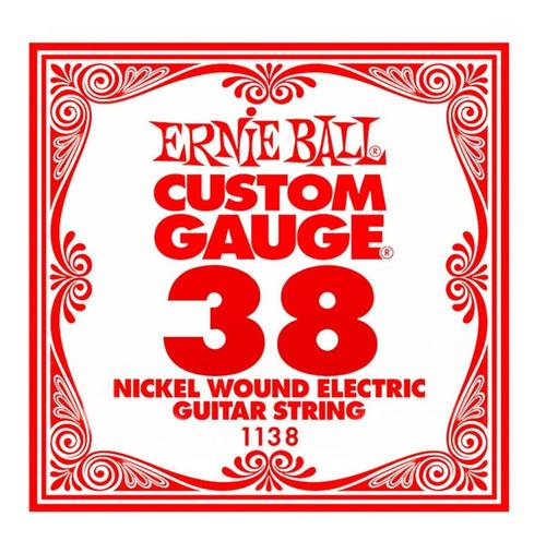 Imagen 1 de 7 de Cuerda Suelta Ernie Ball 038 Nickel Wound Guitarra Electrica