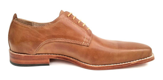 Zapato De Vestir Cuero Hombre Base Suela Natural Puerto Blue