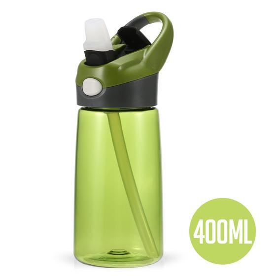 400 Ml Agua Botella Reutilizable Bebida Botella Con La Paja