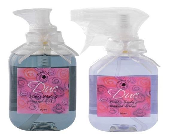 Kit Sabonete Liquido E Eliminador De Odores Romã E Blueberry
