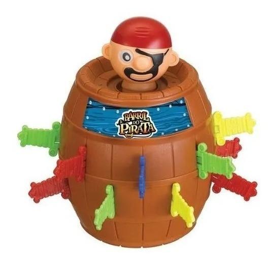 Brinquedo Pula Pirata Barril 16 Adagas