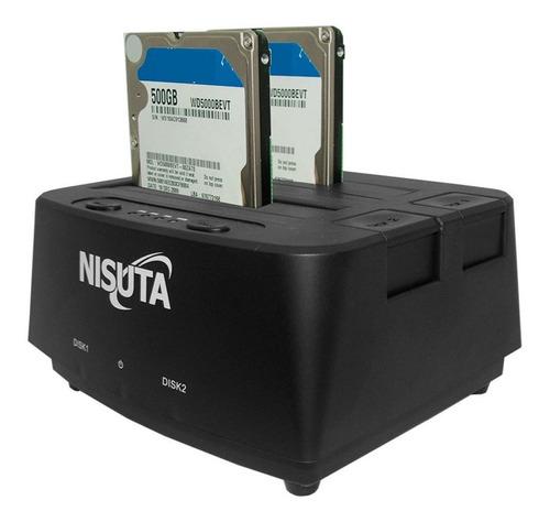 Nisuta Usb 3.0 A Sata Disco Duro Externo Clonador Docking S