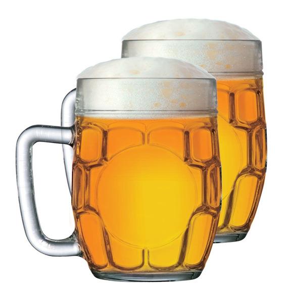 Caneca De Chopp Cerveja Copo Cerveja Vidro 610ml Kit 2 Pcs