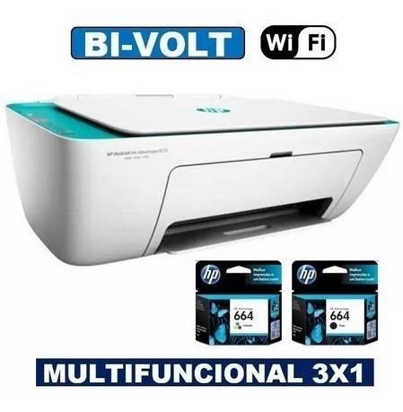 Impressora Hp Wi-fi Multifuncional 2675 3x1 Nova Na Caixa