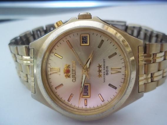 Relogio Orient Masc/ Dourado Automatico..