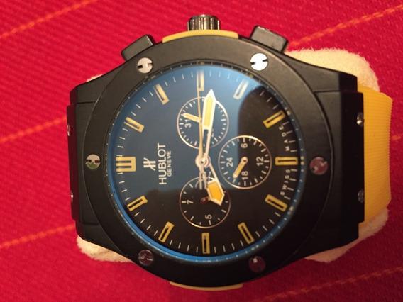 Relógio B Bang - Amarelo - Pronta Entrega