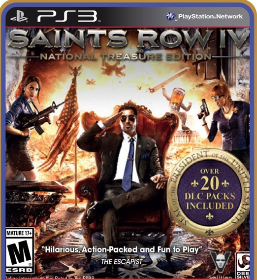 Saints Row 4 National Treasure Edition - Ps3 - Instale Já
