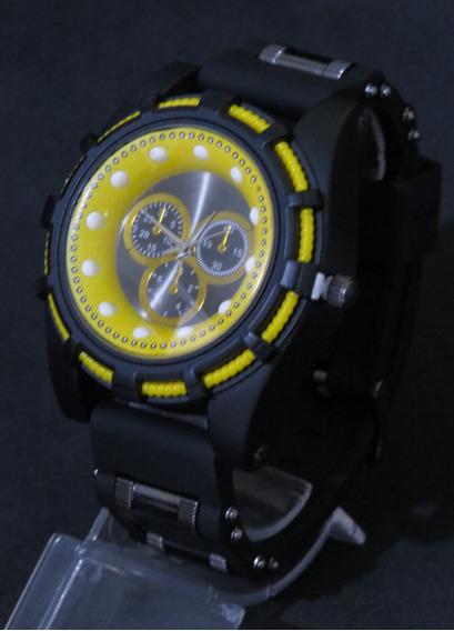 Relógio Bolt Zeus Venon Top Amarelo Grande Luxo Barato C323