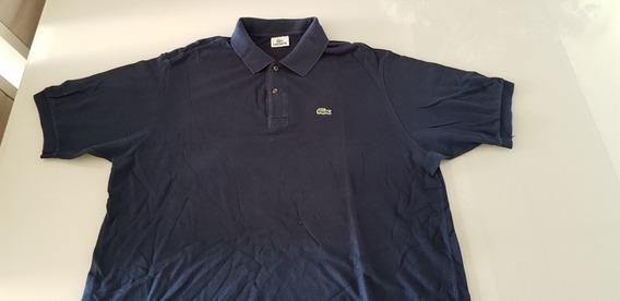 Camisa Pólo Lacoste Nr 7 Xxl Azul Original Usada Linda