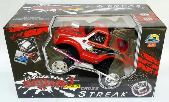 Carro A Control Remoto Tipo Jeep Cargador Y Pilas Solo Negro