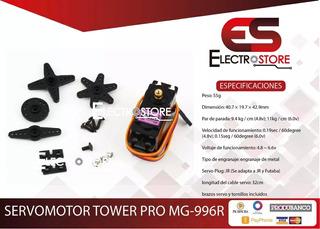 Servomotor Tower Pro Mg996r 13kg.cm Engranaje Metalico