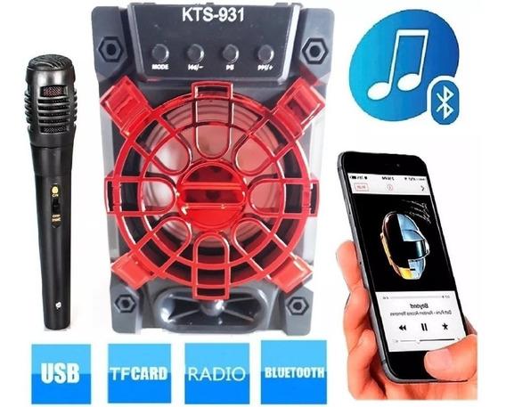 Mini Radio De Mesa Fm Usb Aux Karaokê Wireles