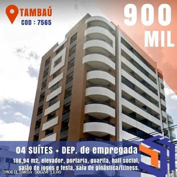 Apartamento Para Venda Em João Pessoa, Tambaú, 4 Dormitórios, 4 Suítes, 1 Banheiro, 3 Vagas - 7565