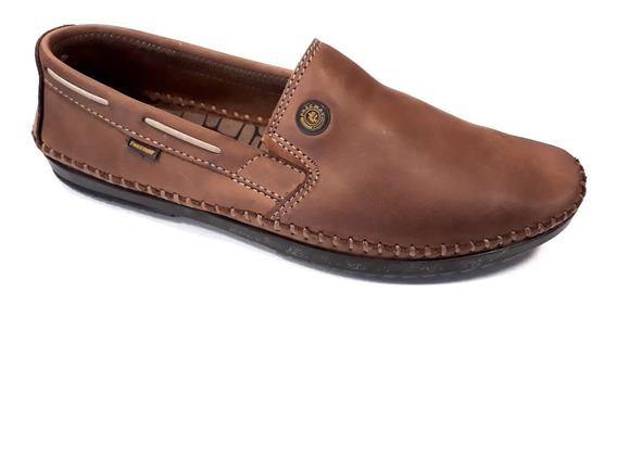 Zapato Hombre Nautico Freeway Cuero 100% Verano