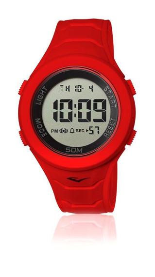 Relógio Pulso Everlast Unissex Digital Vermelho E719