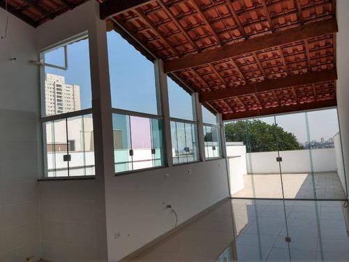 Cobertura À Venda, 88 M² Por R$ 395.000,00 - Vila Santa Teresa - Santo André/sp - Co0204