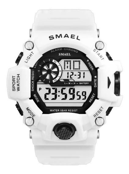 Relógio Masculino Digital Militar Smael 1385b À Prova D
