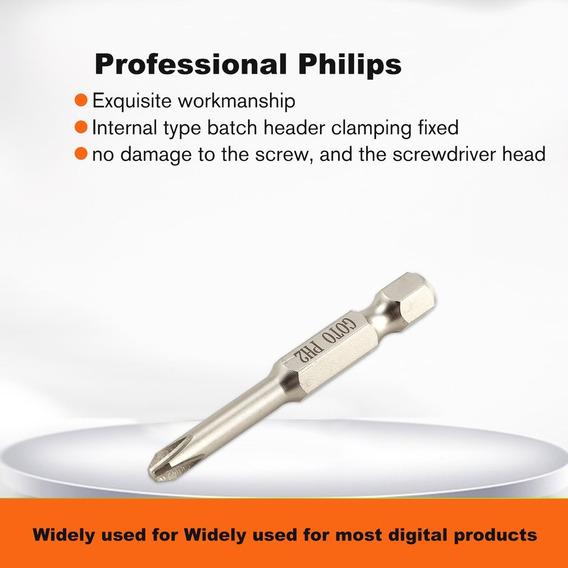 Goto 10pcs S2 Liga Aço Sh1 / 4 50mm Alto Precisão Philips Ma