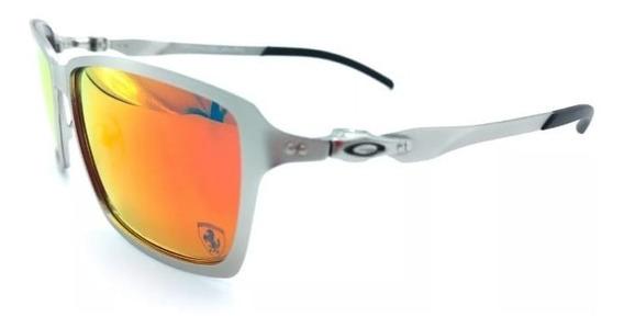Óculos De Sol Tincan Prata Vermelha Cx Marrom Pronta Entrega