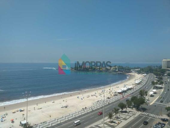 Cobertura Linear Em Copacabana Com 2 Vagas De Carro Frontal Mar - Cpco50008