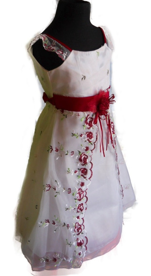 Vestido Fiesta Corte Princesa Rojo Rosa Amarillo