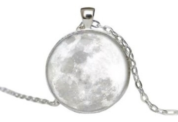 20 Pz Mayoreo Collar Luna Llena Brilla En La Oscuridad