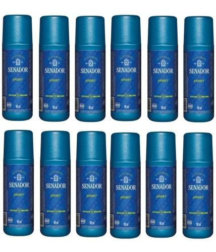 Kit C/12 Desodorantes  Senador Sport Spray 90ml ((oferta))